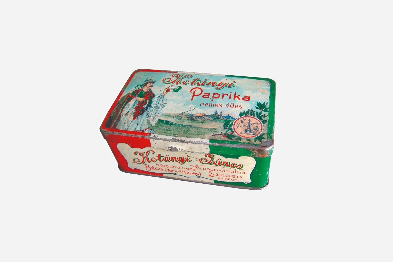 Kotányi fűszerpaprika csomagolása, 1900