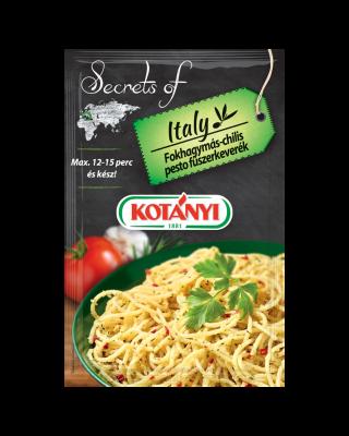 3536025 Kotanyi Secrets Of Italy Fokhagymas Chilis Pesto B2c Pouch